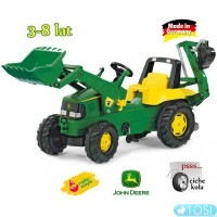 Педальный Трактор Junior John Deere Rolly Toys