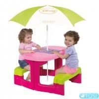Детский Столик для Пикника с Зонтиком Mouse Smoby