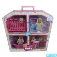 Кукольный набор Simba Дом Мини NBB с 2 пупсами и аксессуарами