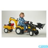 Педальный Трактор с Прицепом и двумя Ковшами  Falk