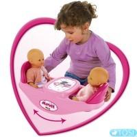 Стульчик для кормления кукол Близнецов 2 в 1 Minnie Mouse Smoby