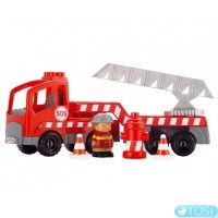 Конструктор Ecoiffier  Пожарная машина с людьми, 18 элем.
