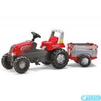 Трактор Педальный с Прицепом Junior Rolly Toys