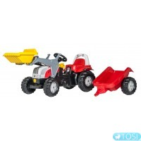Педальный Трактор с Прицепом и Ковшом Rolly Toys