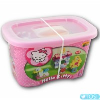 Конструктор в контейнере 73 детали Hello Kitty BIG