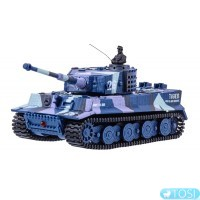 Танк микро р/у 1:72 Tiger со звуком (хаки синий) Great Wall Toys