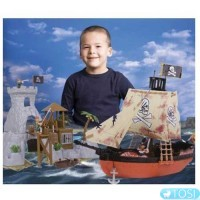 Игровой набор Пиратский Корабль и Остров Сокровищ Superplay Simba