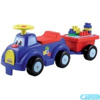 Машина для катания малыша с прицепом и конструктором Ecoiffier, 13 элем.