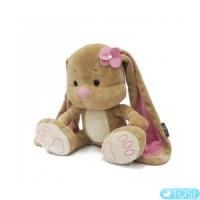 Мягкая игрушка Зайка Лин с цветочком 2029002