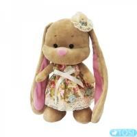 Мягкая игрушка Зайка Лин в платьице в цветочек 2029003