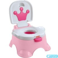 Горшок музыкальный Fisher Price Pink Princess Stepstool Potty W4106