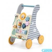 Ходунки-каталка Viga Toys PolarB с бизибордом