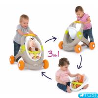 Детские ходунки–коляска Smoby Minikiss Animal 210206