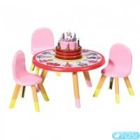 Набор мебели для куклы Baby born Вечеринка с тортом