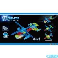 Конструктор Crystaland Самолет и вертолет 4в1