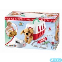 """Игровой набор Ecoiffier """"Ветеринарная клиника"""" с переноской для щенка, 8 аксес"""