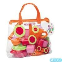 Прозрачная сумочка Ecoiffier с набором посуды Bubble Cook, 24 аксес