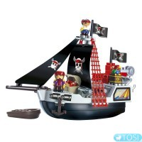 Конструктор Пиратский Корабль в коробке 29 деталей Ecoiffier