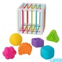 Куб-сортер зі стінками-шнурочками Fat Brain Toys InnyBin