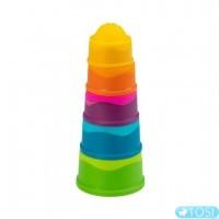 Пирамидка тактильная Чашки Fat Brain Toys dimpl stack
