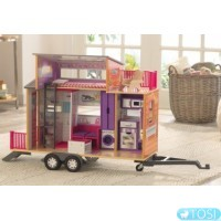 Кукольный домик на колесах KidKraft Teeny House 65948