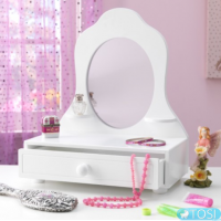 Туалетный столик KidKraft White Tabletop Vanity 78110