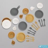 Игровой набор посуды Modern Metallics KidKraft 63532