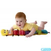Развивающая музыкальная игрушка для малышей Гусеничка Lamaze