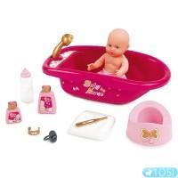 Ванна с аксессуарами для купания куклы Smoby Baby Nurse 220302