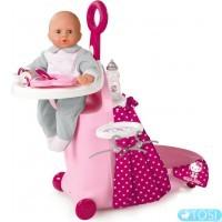 """Игровой набор Smoby Hello Kitty """"Раскладной чемодан"""" с кроваткой и аксес"""