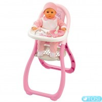 Стульчик для кормления Baby Nurse с аксессуарами Smoby