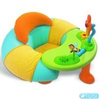 Надувное кресло + столик интерактивный развивающий комплекс для малышей Cottons Smoby
