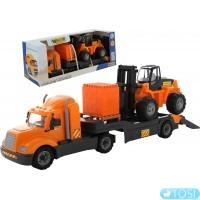 Автомобиль-трейлер + автокар + конструктор Wader Polesie 55699