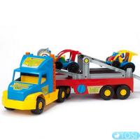 Грузовик с легковым авто Wader Super Truck