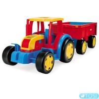 Трактор Wader Гигант с прицепом