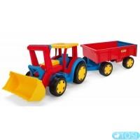 Трактор Wader Гигант с прицепом и ковшом