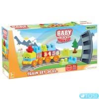 Конструктор Железная дорога Baby Blocks Wader 41460