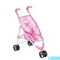 Трехколесная коляска для куклы Baby Born прогулочная, складная