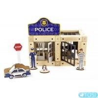 Эко-конструктор на магнитах ZEVS-toys Police 72 дет