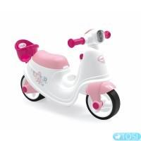 Детский скутер Smoby 721004 с корзиной для куклы