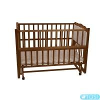 Детская кроватка Geoby LM604SC дерево/светло-бежевая (LM604SC-G417)
