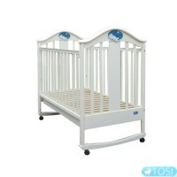 Детская кроватка Mioo BC-433M белая