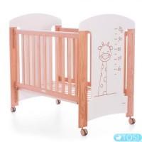Детская кроватка Trama Jirafa cream/oak