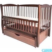 Детская кроватка Twins Радуга с откидным бортиком