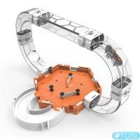 Малый вертикальный игровой набор с микро-роботом HEXBUG Нано V2 с туннелями и площадкой /Nano V2 Gravity Loop Set