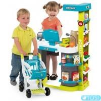 Интерактивный супермаркет с тележкой Smoby City Shop 350207