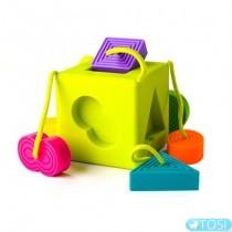 Сортер-прорезыватель тактильный Fat Brain Toys OombeeCube