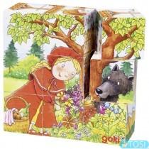 Кубики деревянные Goki Время сказок