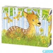 Кубики деревянные Goki Животные в лесу