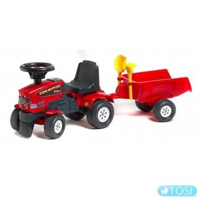 Трактор Mustang Каталка с Прицепом Falk